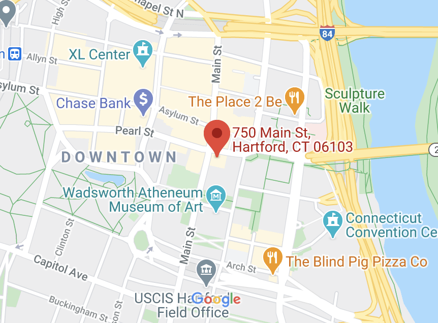 hartford location map