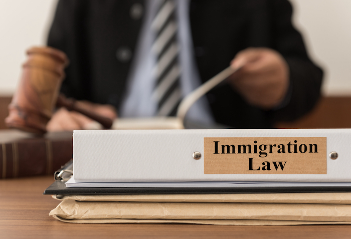 Close,Up,Lawsuit,Folder,Of,Immigration,Law,With,The,Judge