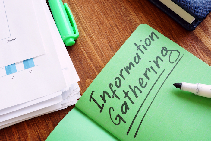 Information,Gathering,Sign,In,The,Green,Book.
